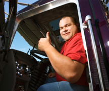 Balancing working as a truck driver with having a family life is important.